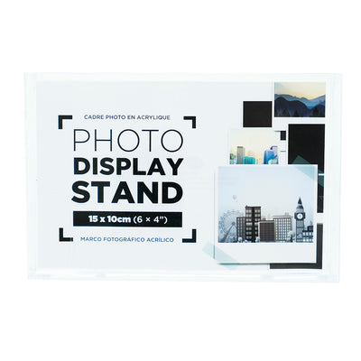 Acrylic Photo Display Stand Horizontal 15X10Cm, 1Pc