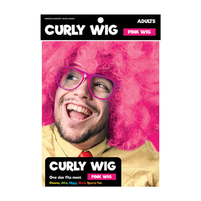 Curly Wig For Adults- Pink
