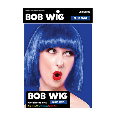 Bob Wig For Adults- Blue