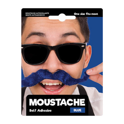 Dress Up Moustache Self Adhesive- Blue