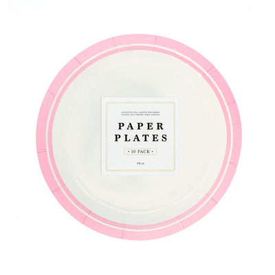Party Plates- Pink, 18cm