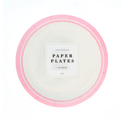 Party Plates 23cm - Pink