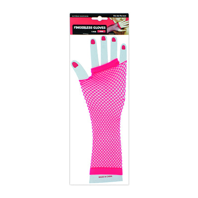 Dress Up Fish net Gloves - Pink