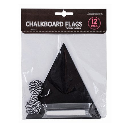 Chalkboard Flags- 12 Pieces in a pack