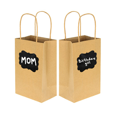 Kraft Bag with Chalk Label - 4pcs