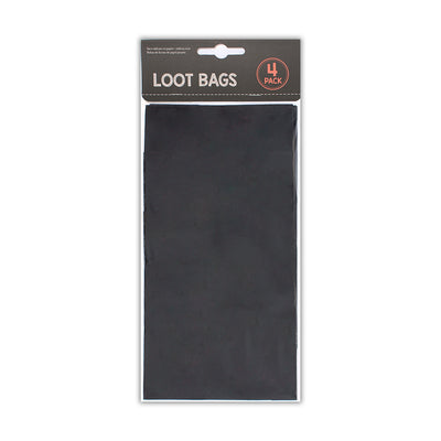 Loot Bags- Black, Pack of 4