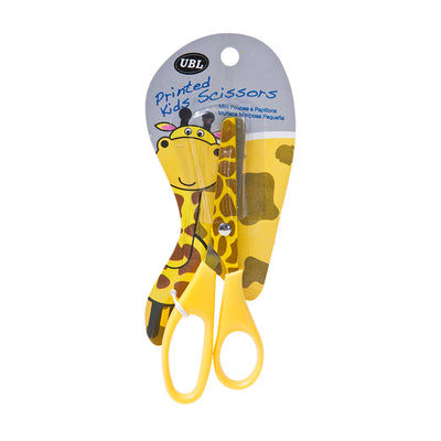 Giraffe Pattern Kids Scissors 13 cm