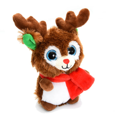 Soft Toy - Glittery Eye Reindeer, 16cm, 1pc