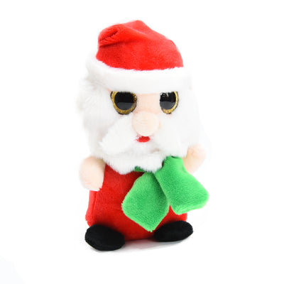 Soft Toy - Glittery Eye Santa Claus, 16cm, 1pc