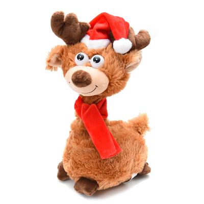 Sing & Twist Reindeer - 1pc, 30 CM, Battery Operated