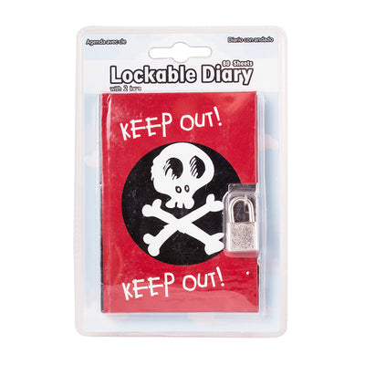 Lockable Diary- Keep Out, 80 Sheets