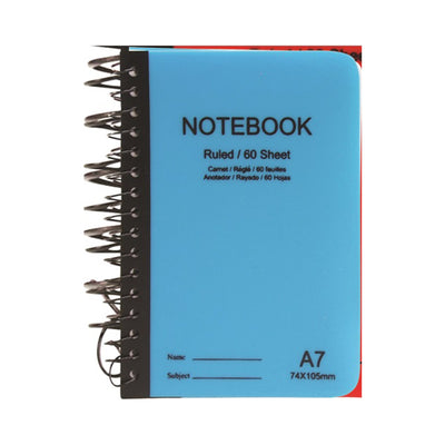Spiral Notebook- Ruled A7 size