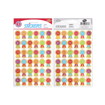 Foil Merit Sticker Well Done -2 sheets, 72pcs