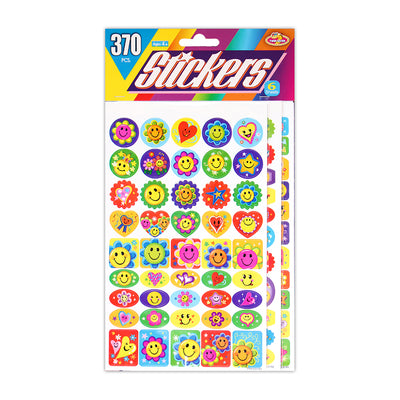 Sticker  370pcs, 6 sheets -Smiley Delight