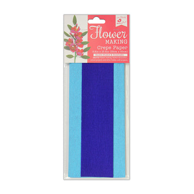Flower Making Crepe Paper Double Shade-  Light Blue/Blue