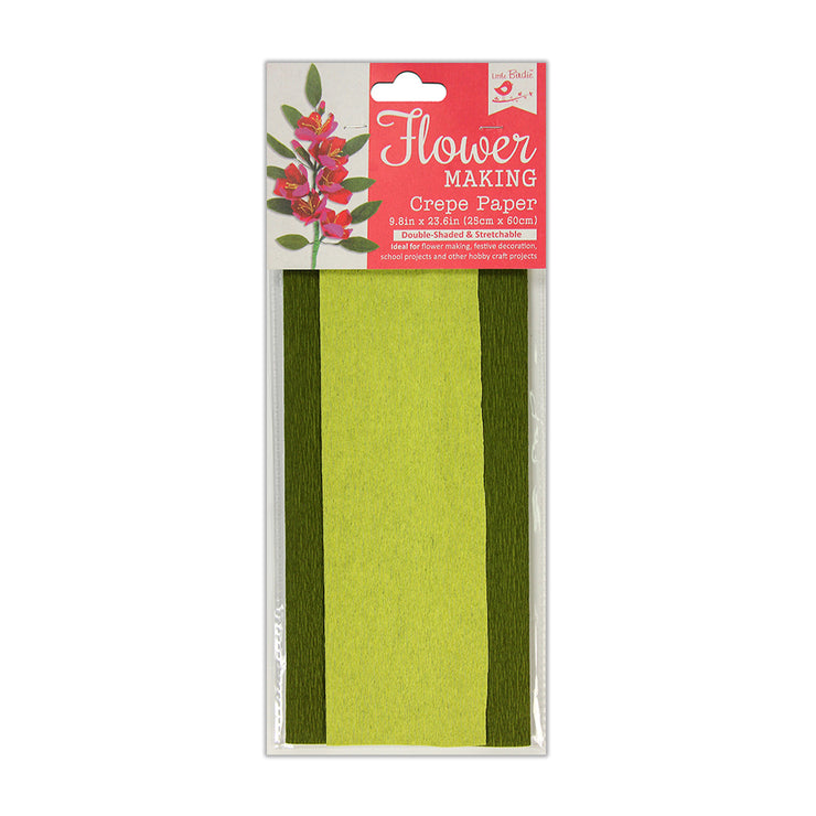 Flower Making Crepe Paper Double Shade- Green Tea/Cypress