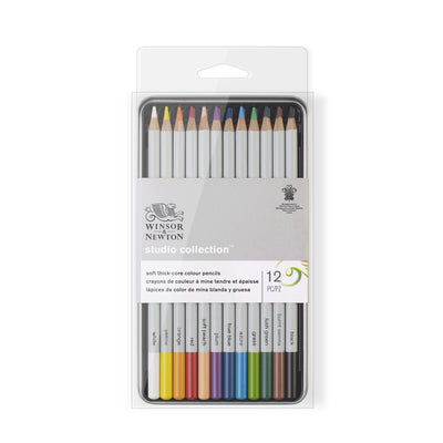 Winsor & Newton Studio Collection Precision Pencil Coloured x 12 Tin Set
