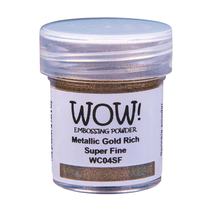 WOW Metallic Embossing Powder Gold Rich Super Fine, 15Ml Jar