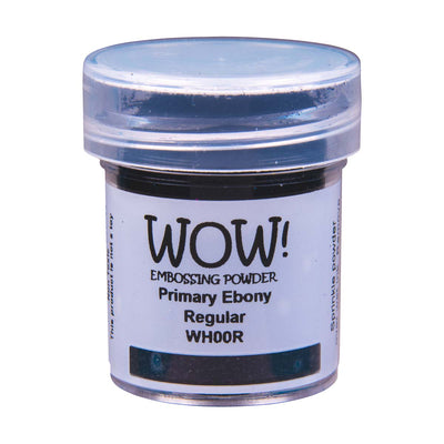 WOW Primary Embossing Powder Ebony Regular, 15Ml Jar