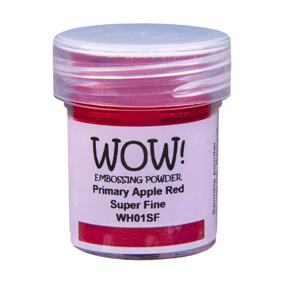 WOW Primary Embossing Powder Apple Red Super Fine, 15Ml Jar