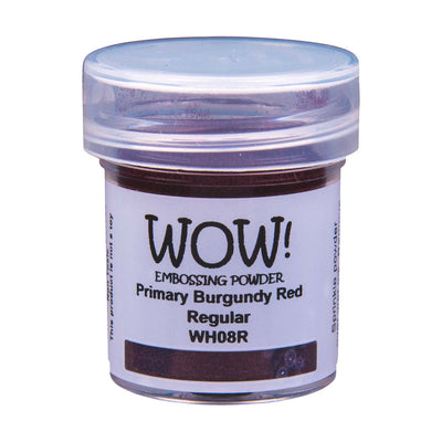 WOW Primary Embossing Powder Burgundy Red Regular, 15Ml Jar