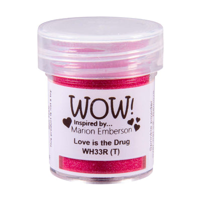 WOW Primary Embossing Powder Love Is The Drug Regular Marion Emberson, 15Ml Jar