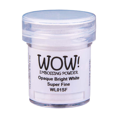 WOW Opaque White Embossing Powder Bright White Super Fine, 15Ml Jar