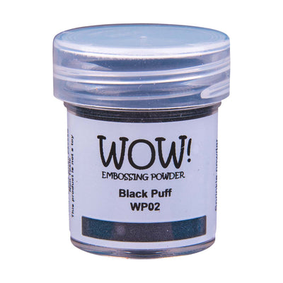 WOW Puff Embossing Powder Black, 15Ml Jar