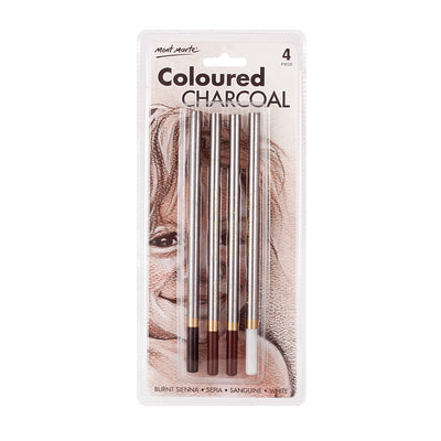 Mont Marte Coloured Charcoal Pencils 4pcs