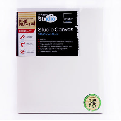 Mont Marte Studio Canvas - 340 Cotton Duck, 25.3x30.5cm, 1pc