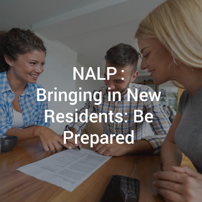 NALP: Bringing in New Residents: Be Prepared