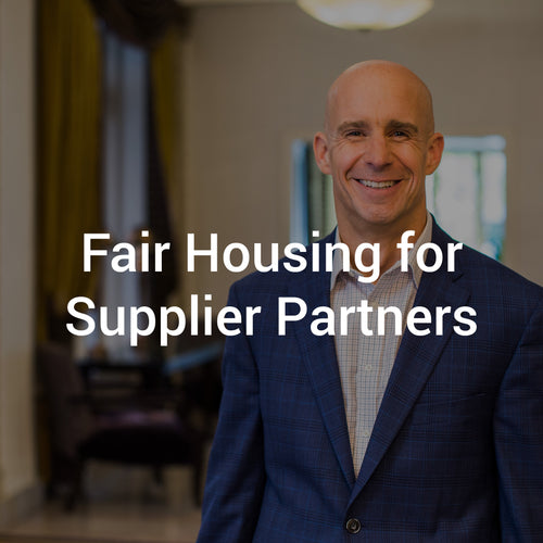 Fair Housing for Supplier Partners