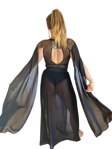 Shoulder Cape | Little Black Wings