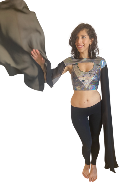 Shoulder Cape | Shine All Night Silver
