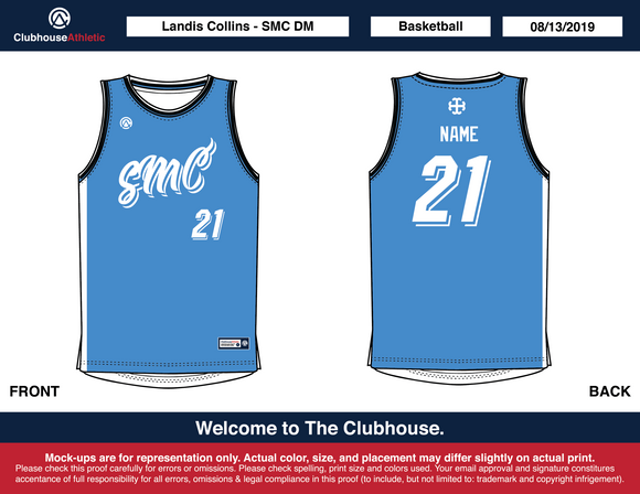 SMCDM Basketball Jerseys - Premium Athletic Apparel Clubhouse Athletic