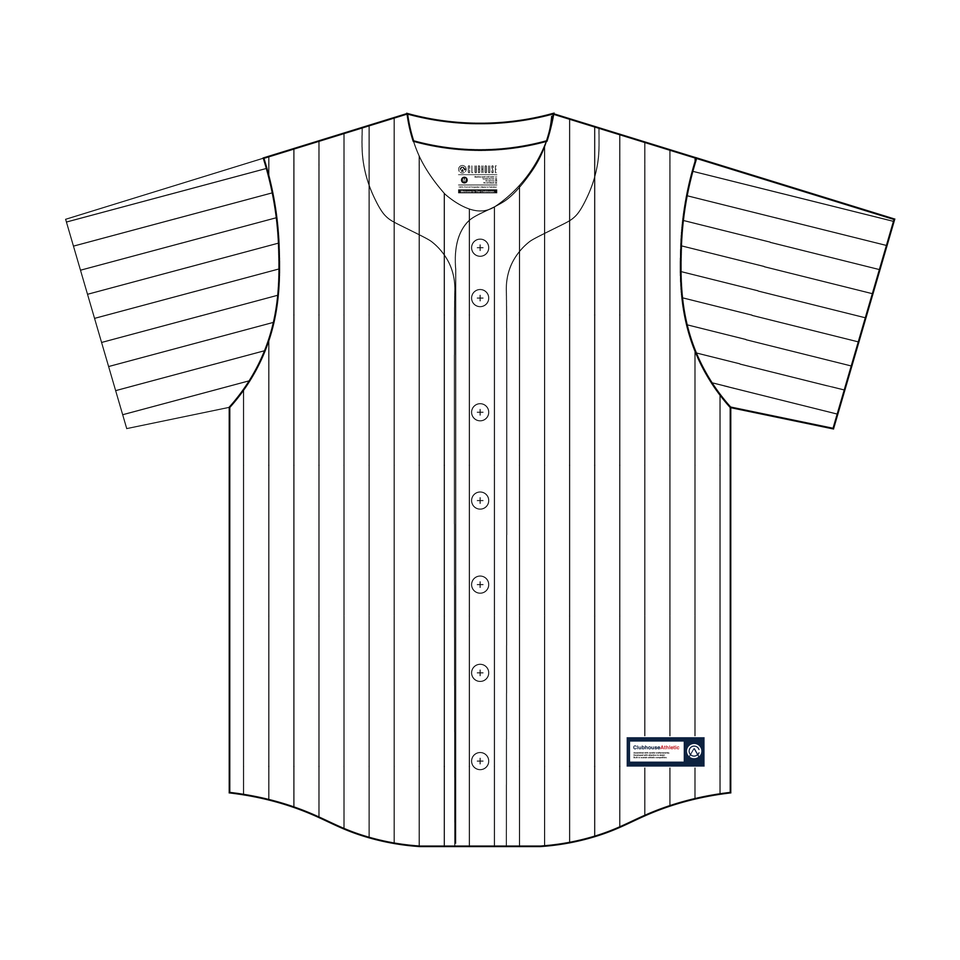Custom Pinstripe Baseball Jersey - Premium Athletic Apparel Clubhouse Athletic