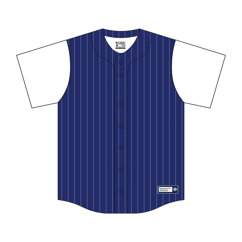 Custom Pinstripe Body Baseball Jersey - Premium Athletic Apparel Clubhouse Athletic