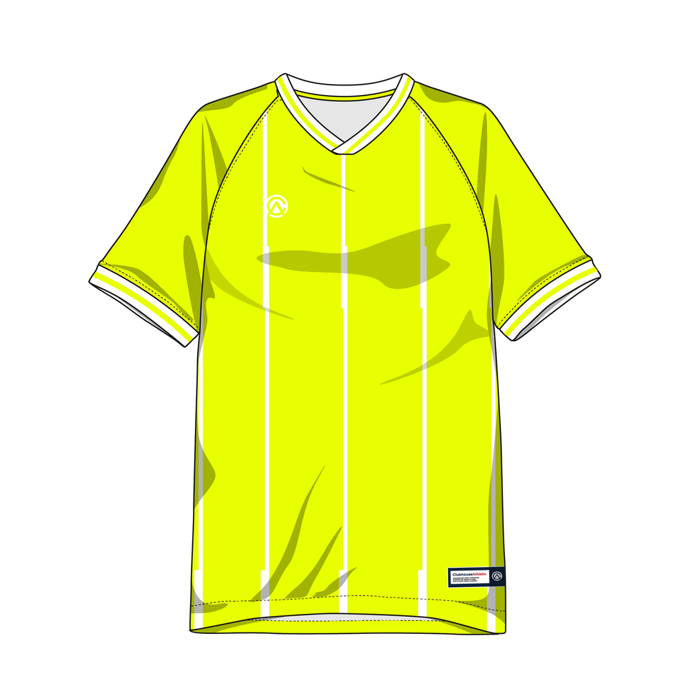 Clubhouse Glitch Pinstripe Custom Soccer Jersey - Clubhouse Athletic