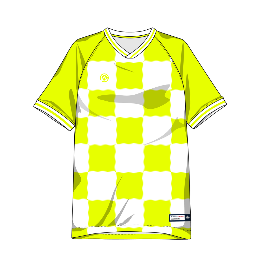 Clubhouse Electric Checker Custom Soccer Jersey - Clubhouse Athletic