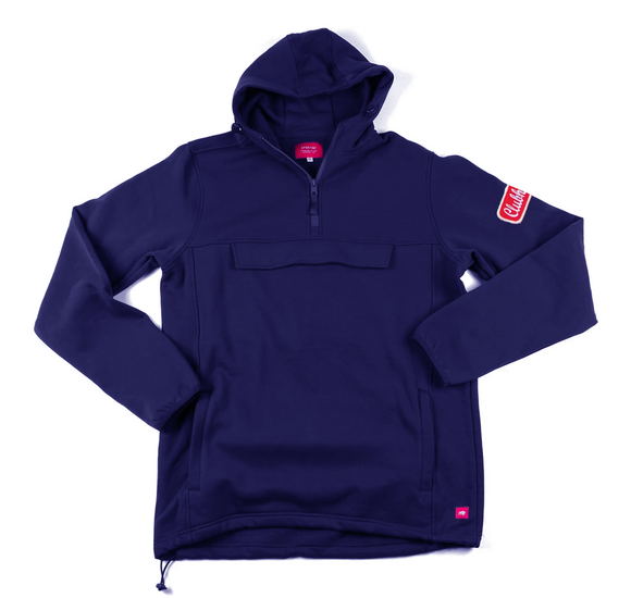 Clubhouse x Sportiqe Anorak Fleece Navy Hoodie - Premium Athletic Apparel Clubhouse Athletic