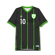 Clubhouse Glitch Pinstripe Custom Soccer Jersey