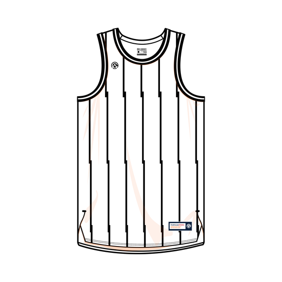 Offset Pinstripe Custom Basketball Jersey - Premium Athletic Apparel Clubhouse Athletic