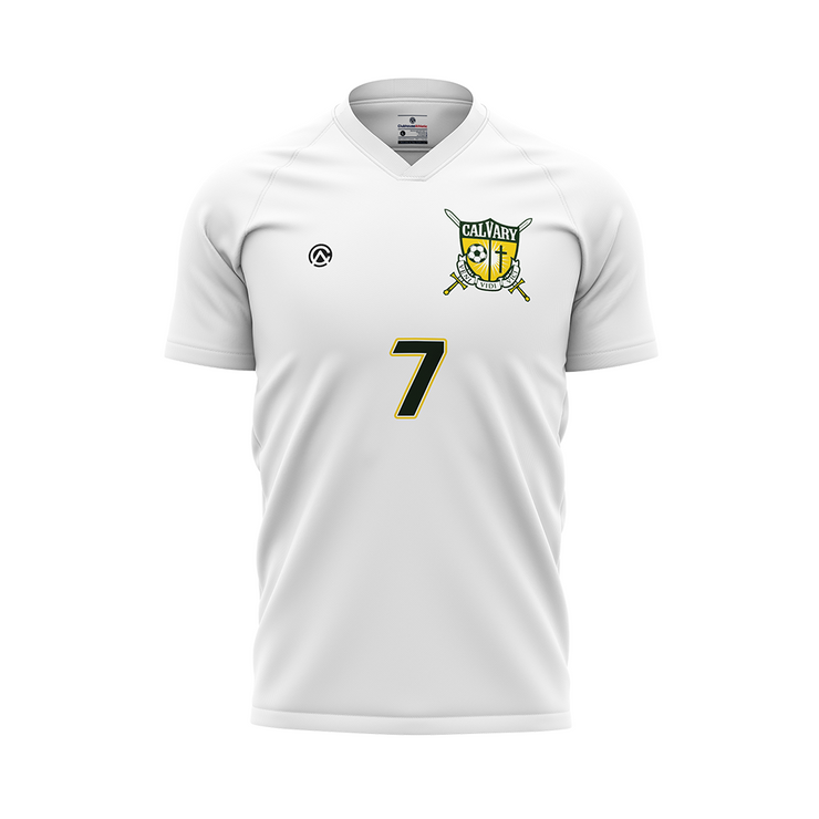 Calvary Academy Girls Soccer Jersey (White) - Premium Athletic Apparel Clubhouse Athletic
