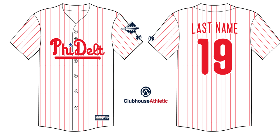 Phi Delt - Baseball Jersey - Premium Athletic Apparel Clubhouse Athletic