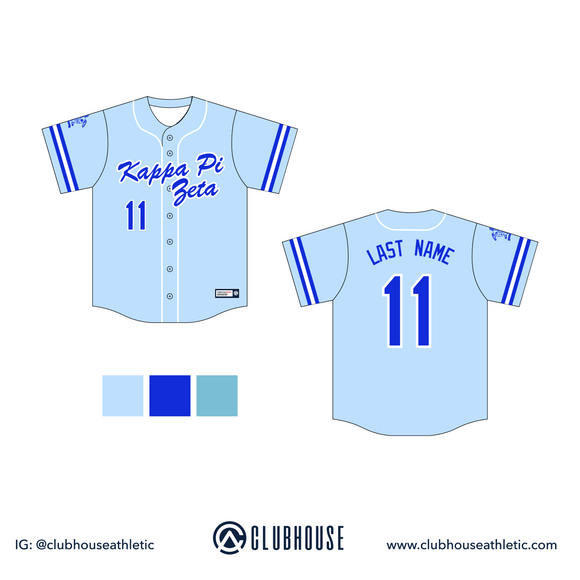 Kappa Pi Zeta Baseball Jersey - Premium Athletic Apparel Clubhouse Athletic