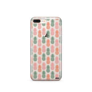 Vintage Pineapple - Clear TPU Case Cover