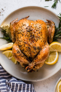 Garlic Rosemary Roasted Chicken- Weight Watchers approved 4 points, KETO, GF