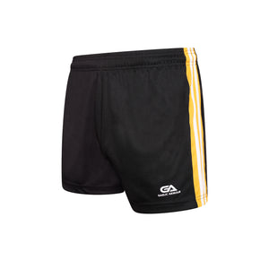GAA Official Match Shorts Black Amber