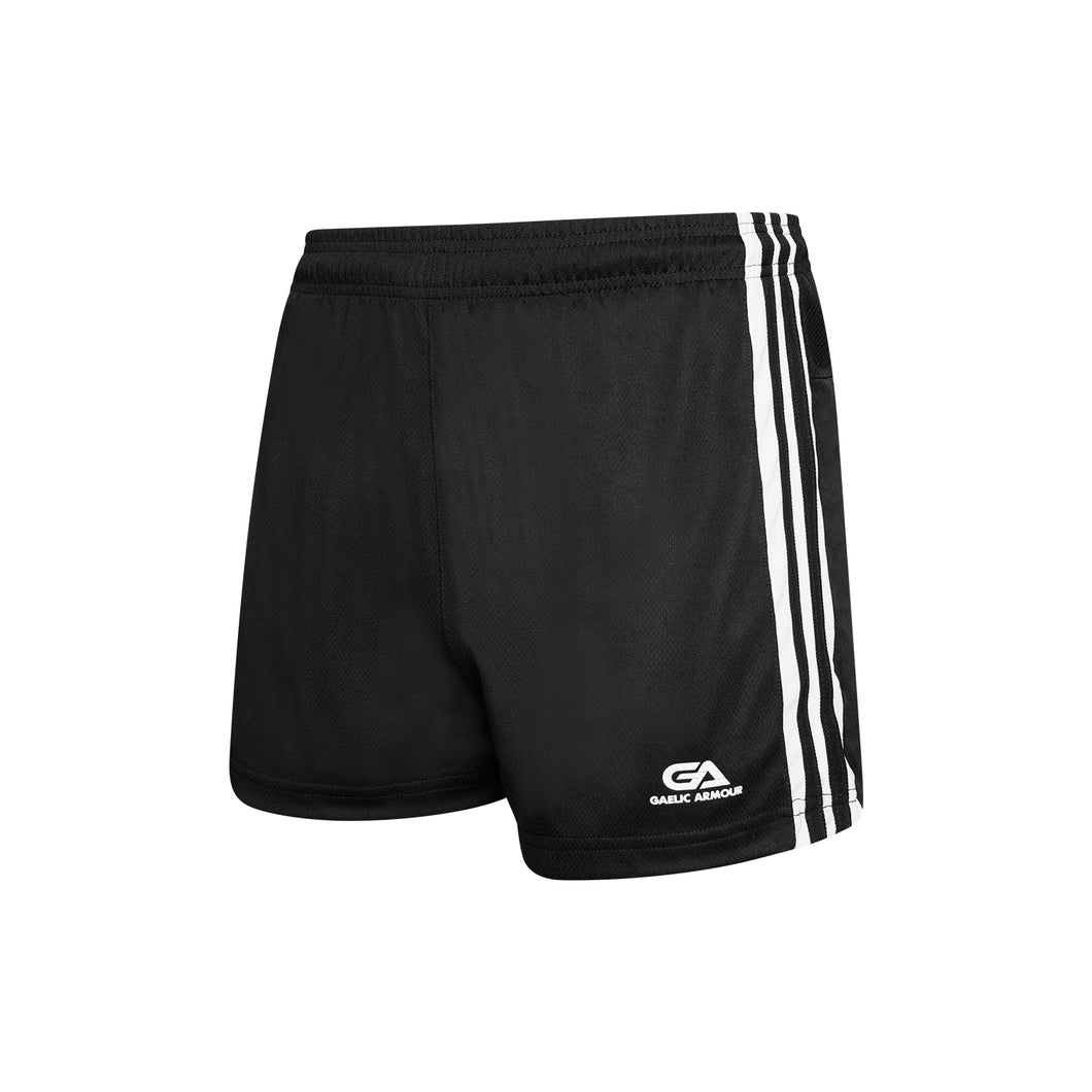 GAA Official Match Shorts Black White