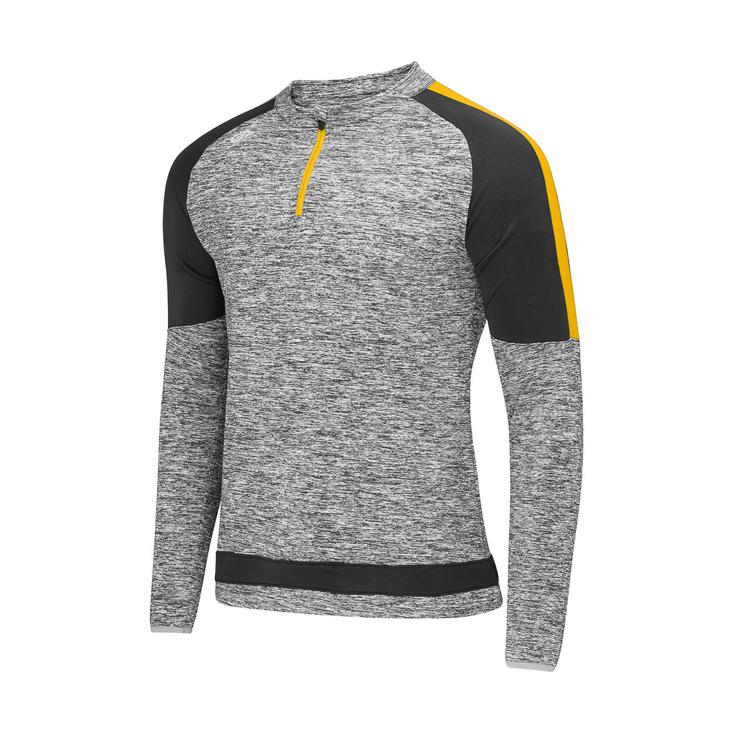 Semple Half Zip Marl / Black / Amber